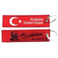 Kemal Atatürk Kumaş Anahtarlık