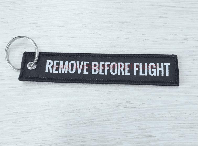Siyah-Black Remove Before Flight Anahtarlık