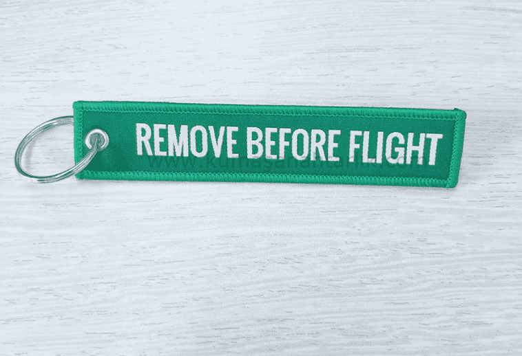 Mavi-Blue Remove Before Flight Anahtarlık