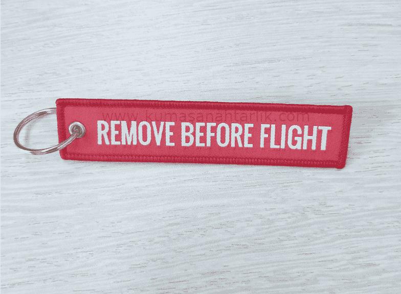 Kırmızı/Red Remove Before Flight Anahtarlık