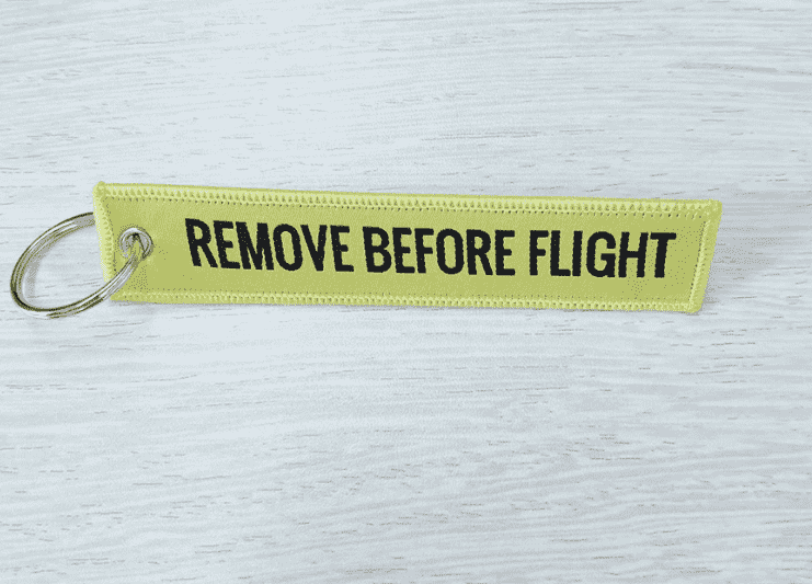 Sarı-Yellow  Remove Before Flight Anahtarlık