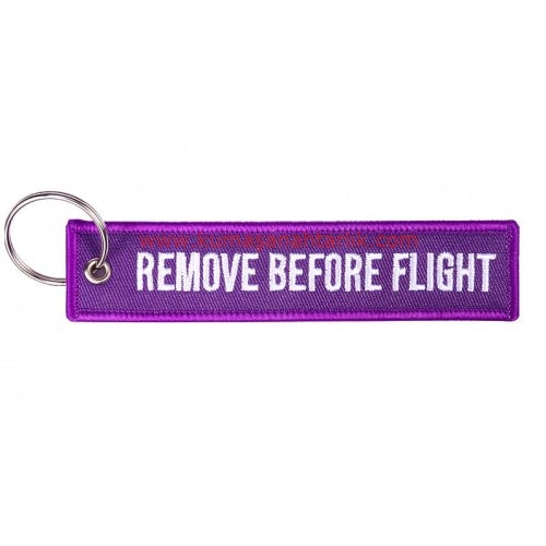 Mor--Purple Remove Before Flight Anahtarlık